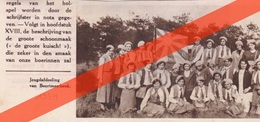 BOORTMEERBEEK - 1934 - JEUGDAFDELING BOERINNEN  - TIJDSCHRIFTAFBEELDING - Ohne Zuordnung
