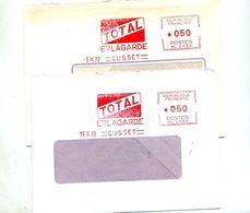 Lettre Flamme Ema Cusset Total Lagarde - Poststempel (Briefe)
