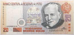 Pérou - 20 Nuevos Soles - 2001 - PICK 176a - NEUF - Peru