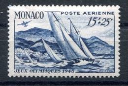 RC 17860 MONACO COTE 41€ PA N°35 REGATES NEUF ** B/TB  MNH F/VF (VOIR DESCRIPTION ) - Aéreo