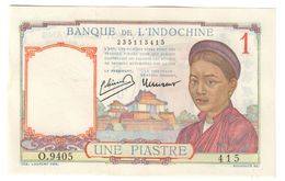 French Indochina 1 Piastre 1949 Pick 54 E UNC- - Indochina