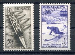 RC 17861 MONACO COTE 33,50€ PA N°32 / 33 AVIRON ET SKI NEUF ** TB  MNH VF - Aéreo