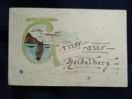 DC2543 -  Gezeichneter Gruß Aus Heidelberg Von 1910 - Heidelberg