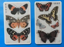 USA X2 Butterfly Papillon Mariposa Schmetterling Farfalla United States America B.E.L. International Telecommunication - Farfalle