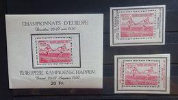 BELGIE 1950      Blok 29  +  PR 117 - 118   Atletiek      Postfris **    CW  115,00 - Blocks & Sheetlets 1924-1960