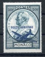 RC 17864 MONACO COTE 6,50€ PA N° 13 - 50F SURCHARGÉ NEUF ** TB  MNH VF - Aéreo