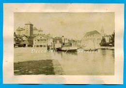 Haute-Savoie * Annecy Port Et Rue Sainte-Claire * 2 Photos Albumine Vers 1880  - Voir Scans - Anciennes (Av. 1900)