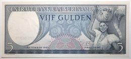 Surinam - 5 Gulden - 1963 - PICK 120b - NEUF - Surinam