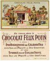 Chromo Chocolat Félix Potin, Au Siam, L'entrée D'un Temple à Bangkok - Cioccolato