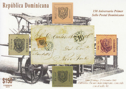 2015 Dominican Republic Dominicana Philately Stamp On Stamps  Miniature Sheet Of 4 Complete MNH - Dominicaanse Republiek