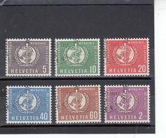 Suisse - Année 1957 - Service - Oblitéré - N°Zumstein 26/31 - OMS - Sujets Symboliques - Service
