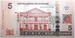 Surinam - 5 Dollars - 2012 - PICK 162b - NEUF - Suriname