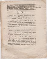 Rare Loi 1791 Numismatique Sur Les Assignats Suspectes De Faux Avec Cachet Rouge Royal N° 1173 - Documents Historiques