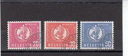 Suisse - Année 1960 - Service - Oblitéré - N°Zumstein 32/34 - OMS - Sujets Symboliques - Service