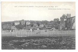 Cpa...Veules-les-Roses...vue Générale Prise De La Plage...1907... - Veules Les Roses
