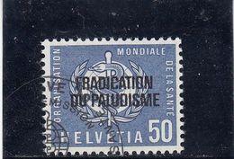 Suisse - Année 1962 - Service - Oblitéré - N°Zumstein 35 - OMS - Eradication Du Paludisme - Service