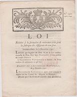 Rare Loi 1791 Numismatique Sur Fabrication Coins Des  Assignats  De 100 Sous Avec Cachet Rouge Royal N° 1450 - Documents Historiques