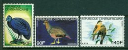 REPUBLIC OF CENTRAL AFRICA 1981 Mi 793-95** Birds [A4645] - Unclassified