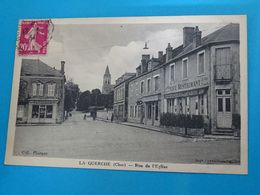 """18 ) La Guerche - Rue De L'eglise  """" Le Café Restaurant """" - Année 1934 : EDIT : Content - La Guerche Sur L'Aubois"""