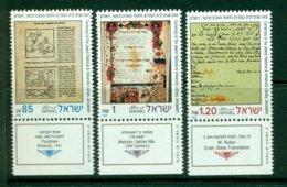 ISRAEL 1992 Mi 1236-38** Centenary Of The Jewish National & Universary Library, Jerusalem [A5290] - Languages
