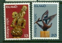 ICELAND 1974 Mi 489-90** Europa CEPT - Sculptures [A5443] - Europa-CEPT