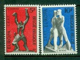 BELGIUM 1974 Mi 1766-67** Europa CEPT - Sculptures [A5445] - Europa-CEPT