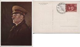Deutsches Reich # 763 Sonderstempel Geburtstag 20.4.41 Hitler-Gemäldekarte - Storia Postale