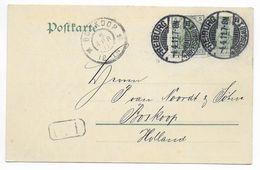 "GERMANIA - 1911 - CP ENTIER Mi.P78 + 85Ia SIGNE JÄSCHKE BPP REPIQUAGE PRIVE ""GEB. MENGLER"" FREIBURG => BOSKOOP (HOLLAND) - Entiers Postaux"