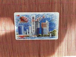 Christmas Phonecard Sinagpore  10 $ Used - Singapour