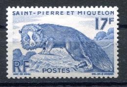RC 17885 ST PIERRE ET MIQUELON COTE 7,50€ N° 346 RENARD ARGENTÉ NEUF * TB  MH VF - St.Pierre & Miquelon