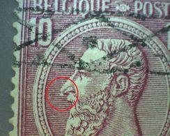 N° 46 . OBL.caisse D'epargne Défaut Tache Blanche Sous Nez (plaatfout) 2 Scan  Lot K108 - 1884-1891 Léopold II