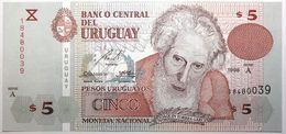 Uruguay - 5 Pesos Uruguayos - 1998 - PICK 80 - NEUF - Uruguay