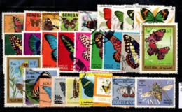 Faune 1970-1983 Oblitéré 100% Papillons - Papillons