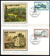 BE   FDC  1940 - 1943   ---   Culturelle  --  Obl. Tournai  --  Z/s  Sur Soie - FDC