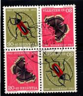 Suisse 1953 Mi. K44 Oblitéré 100% Pro Juventute, Papillons, Insectes - Pro Juventute