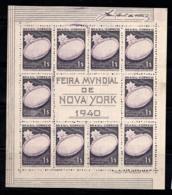 Brésil 1940 Mi. Bl. 3 Bloc Feuillet 100% Sans Gomme 1er, Exposition De New York - Blocks & Kleinbögen