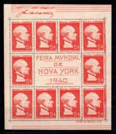 Brésil 1940 Mi. Bl.4 Bloc Feuillet 100% Sans Gomme Exposition De New York - Blocks & Kleinbögen