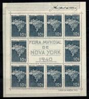 Brésil 1940 Mi. Bl. 5 Bloc Feuillet 100% Exposition De New York - Blocks & Kleinbögen