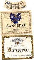 4 étiquettes SANCERRE  Millot à Nevers 1974  , Cave Des Vins De Sancerre , Bailly Frères à Bué Cher - Collezioni & Lotti