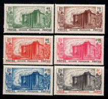 Guyana 1939 Yv. 152-56, PA 19 Neuf ** 100% Révolution, AirMail, 5 F Plus 4 F. - Guyana (1966-...)