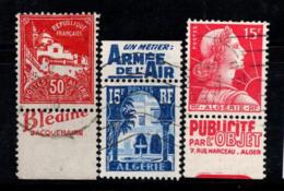 Algérie 1927-55 Oblitéré 100% 50 C, 65 C, 15 F, - Gebraucht