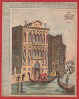 Protége Cahier Ancien Fin XIXéme Collection Moeurs Et Habitations ; Habitation Venitienne  ( Gondoles ) - Protège-cahiers