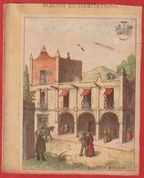 Protége Cahier Ancien Fin XIXéme Collection Moeurs Et Habitations ; Habitation Mexicaine - Protège-cahiers