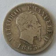 50 Centesimi 1863 M BN - VITTORIO EMANUELLE II -  1863 M BN - - 1861-1946 : Regno