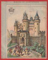 Protége Cahier Ancien Fin XIXéme Collection Moeurs Et Habitations ; Chateau Féodal - Protège-cahiers