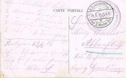 Feldpost 24.06.1915 - 2 Marine-Div Oostende - Guerre 14-18