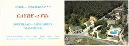 CP Dépliant ROUFFILLAC DE CARLUX - Hôtel Restaurant CAYRE Et Fils - Francia