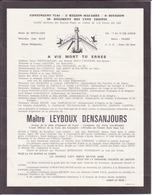 """Faire Part """"père Cent"""", """"maître Leyboux Desanjours"""" - Faire-part"""