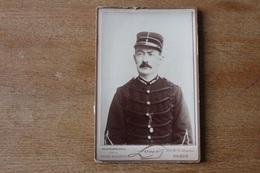 Cabinet Sapeur Pompier  Paris  Sous Officier Vers 1890 Par LOUIS - Guerra, Militares