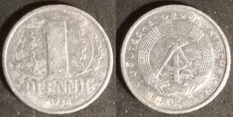 Germany GDR - 1 Pfennig 1980 Used (ge002) - [ 6] 1949-1990 : GDR - German Dem. Rep.